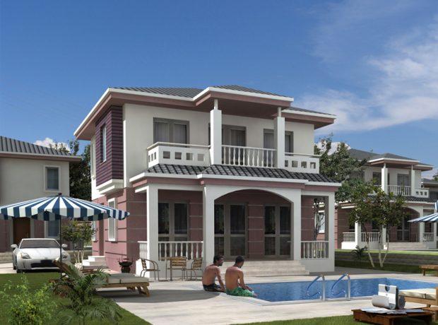 Off plan 4 bedroom detached villa in Greenhill Didim
