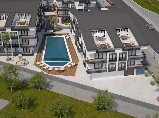 A new comlex in Didim town center 1,2 and 3 bedroom apartments, penthouses