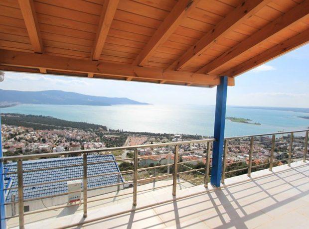 full sea view 3 bedroom brand new villa in Akbük