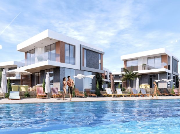 New project of Apartments and detached villas in Akbük