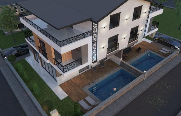 Off plan 2 new semi detached villas in Didim