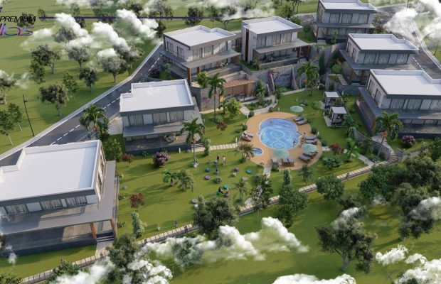 A fantastic new project of 7 modern detached villas in Didim